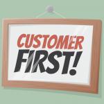 Customer First Sign Illustration