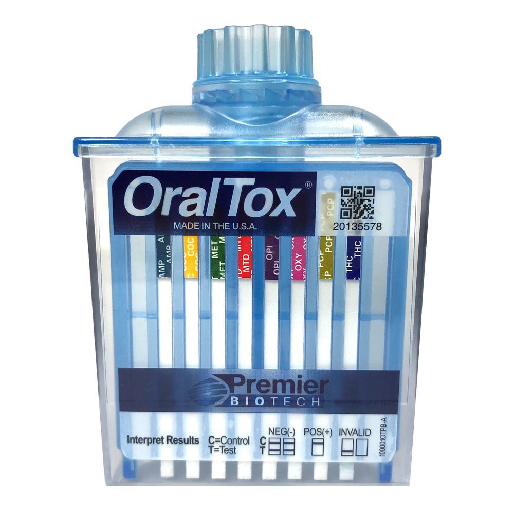 OralTox - Rapid oral fluid product device.